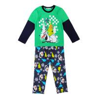 Boy's 100% Cotton Spring/Autumn Pyjamas - Disney Frozen Pyjamas - Olaf Pyjamas - Size 2 - Green/Black - Limited Stock