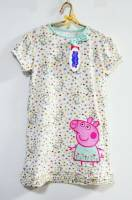 Girl's Spring/Autumn Pyjamas - Peppa Pig Nightie - Size 4 - White - Limited Stock