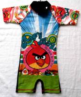 Boy's Swimmers - Angry Birds Rashsuit - Size 6 - Black - Limited Stock