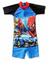 Boy's Swimmers - Spiderman Rashsuit - Size 10 - Blue/Black - Limited Stock