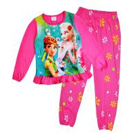 Girl's 100% Cotton Spring/Autumn Pyjamas - Disney Frozen - Anna & Elsa Pyjamas - Size 10 - Pink - Limited Stock