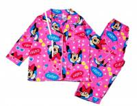 Girl's Flannelette Pyjamas (100% Cotton) - Minnie Mouse Pyjamas - Size 3 - Pink - Limited Stock