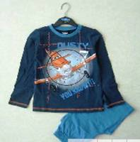 Boy's 100% Cotton Spring/Autumn Pyjamas - Disney Planes Pyjamas - Dusty Pyjamas - Size 4 - Blue - Limited Stock