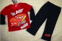 Boy's Winter Pyjamas - Disney-Pixar Cars (Lightning McQueen) Fleece Pyjamas - Size 8 - Red/Black - Limited Stock