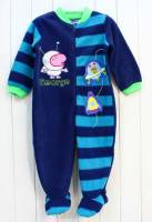 Boy's Winter Pyjamas - George Pig Polar Fleece Onesie (George Pig Sleepsuit) - Size 1 - Blue - Limited Stock