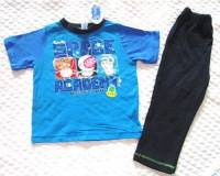 Boy's 100% Cotton Spring/Autumn Pyjamas - George Pig Blue Space Academy Pyjamas (Peppa Pig) - Size 2 - Blue/Black - Limited Stock