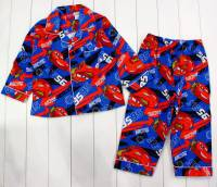 Boy's Flannelette Pyjamas (100% Cotton) - Disney-Pixar Cars (Lightning McQueen) Pyjamas - Size 2 - Blue - Limited Stock