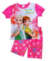 Girl's 100% Cotton Summer Pyjamas - Disney Frozen - Elsa and Anna Pyjamas - Size 4 - Pink - Limited Stock