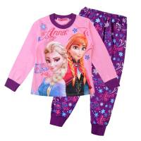 Girl's 100% Cotton Spring/Autumn Pyjamas - Disney Frozen - Anna & Elsa Pyjamas - Size 3 - Pink/Purple - Limited Stock