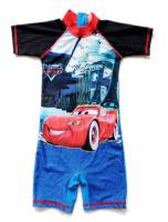 Boy's Swimmers - Disney Pixar Cars Rashsuit - Size 10 - Blue/Black - Limited Stock
