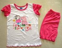 Girl's 100% Cotton Summer Pyjamas - Peppa Pig Friends Forever Pyjamas - Size 2 - Pink - Limited Stock