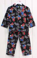 Boy's Flannelette Pyjamas (100% Cotton) - Super Mario Pyjamas - Size 3 - Black - Limited Stock