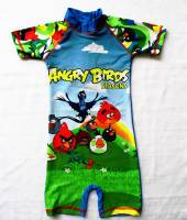 Boy's Swimmers - Angry Birds Rashsuit - Size 6 - Blue/Green - Limited Stock