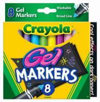 Crayola Digital Light Designer Gel Markers Refill Pack   8 Washable Gel  Markers