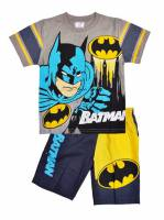 Boy's 100% Cotton Summer Pyjamas - Batman Pyjamas - Size 6 - Grey/Blue/Yellow - Limited Stock
