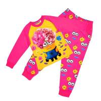 Girl's 100% Cotton Spring/Autumn Pyjamas - Minions Pyjamas - Size 6 - Pink - Limited Stock