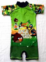 Boy's Swimmers - Angry Birds Rashsuit - Size 10 - Navy/Green - Limited Stock