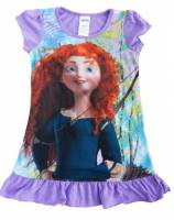 Girl's Summer Pyjamas - Disney Princess Short Sleeve Nightie - Brave (Merinda Nightie) - Size 5 - Purple - Limited Stock