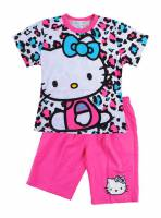 Girl's 100% Cotton Summer Pyjamas - Hello Kitty Pyjamas - Size 3 - Pink - Limited Stock
