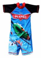 Boy's Swimmers - Disney Planes (Dusty and Ripslinger) Rashsuit - Size 10 - Blue/Black - Limited Stock