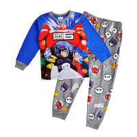 Boy's 100% Cotton Spring/Autumn Pyjamas - Disney Pyjamas - Big Hero 6 Pyjamas - Size 8 - Blue/Grey - Limited Stock