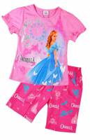 Girl's 100% Cotton Summer Pyjamas - Disney Princess - Cinderalla Pyjamas - Size 3 - Pink - Limited Stock