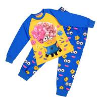 Girl's 100% Cotton Spring/Autumn Pyjamas - Minions Pyjamas - Size 6 - Blue - Limited Stock