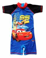 Boy's Swimmers - Disney Cars (Lightning McQueen) Rashsuit - Size 6 - Blue/Black - Limited Stock