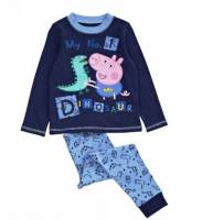 Boy's 100% Cotton Spring/Autumn Pyjamas - George Pig Dinosaur Pyjamas - Size 5 - Blue - Limited Stock