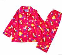 Girl's Flannelette Pyjamas (100% Cotton) - Disney Princess Pyjamas - Size 4 - Dark Pink - Limited Stock