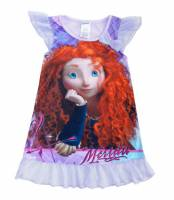 Girl's Summer Pyjamas - Disney Princess Short Sleeve Nightie - Brave (Merinda Nightie) - Size 5 - Lilac - Limited Stock