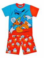 Boy's 100% Cotton Summer Pyjamas - Donald Duck Pyjamas - Size 8 - Orange/Blue - Limited Stock