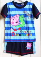 Boy's Summer Pyjamas - George Pig Dinosaur Pyjamas (Peppa Pig) - Size 1 - Blue - Limited Stock