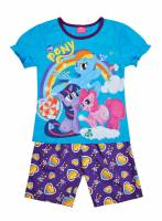 Girl's 100% Cotton Summer Pyjamas - My Little Pony Pyjamas - Size 6 - Blue/Purple - Limited Stock