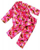 Girl's Flannelette Pyjamas (100% Cotton) - Pink Dora the Explorer Pyjamas - Size 3 - Pink - Limited Stock