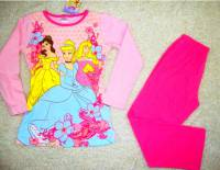 Girl's 100% Cotton Spring/Autumn Pyjamas - Disney Princess Pyjamas - Size 6 - Pink - Limited Stock