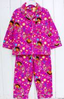 Girl's Flannelette Pyjamas (100% Cotton) - Pink Dora the Explorer (Fairy Dora) Pyjamas - Size 3 - Pink - Limited Stock