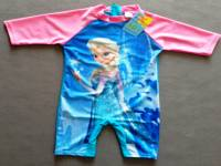 Girl's Swimmers - Disney Frozen (Queen Elsa) Rashsuit - Size 6 - Blue/Pink - Limited Stock