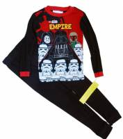 Boy's 100% Cotton Spring/Autumn Pyjamas - Lego Star Wars Pyjamas - Size 6 - Black - Limited Stock