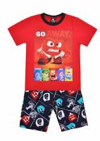 Boy's 100% Cotton Summer Pyjamas - Disney Inside Out - Anger Pyjamas - Size 2 - Red - Limited Stock