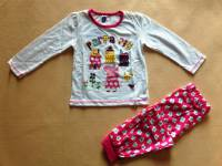 Girl's 100% Cotton Spring/Autumn Pyjamas - Peppa Pig Pyjamas - Size 3 - White/Pink - Limited Stock