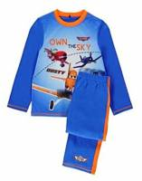Boy's 100% Cotton Spring/Autumn Pyjamas - Disney Planes Pyjamas - Size 4 - Blue/Orange - Limited Stock