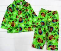 Boy's Flannelette Pyjamas (100% Cotton) - Disney Jake and the Neverland Pirates Pyjamas - Size 5 - Green - Limited Stock