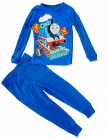 Boy's 100% Cotton Spring/Autumn Pyjamas - Thomas The Tank Engine Pyjamas - Size 2 - Dark Blue - Limited Stock
