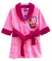 Girl's Fleece Dressing Gown - Peppa Pig Gown - Size 4 - Pink - Limited Stock
