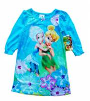 Girl's Spring/Autumn Pyjamas - Disney Fairies Long Sleeve Nightie - Size 2 - Blue - Limited Stock