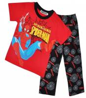 Boy's 100% Cotton Spring/Autumn Pyjamas - Red Spiderman Pyjamas - Size 4 - Red/Black - Limited Stock