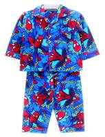 Boy's Flannelette Pyjamas (100% Cotton) - Spiderman Pyjamas - Size 4 - Blue - Limited Stock