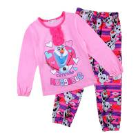 Girl's 100% Cotton Spring/Autumn Pyjamas - Disney Frozen Pyjamas - Olaf Pyjamas - Size 4 - Pink - Limited Stock