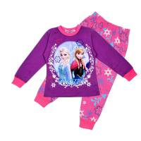 Girl's 100% Cotton Spring/Autumn Pyjamas - Disney Frozen Pyjamas - Size 6 - Purple/Pink - Limited Stock